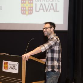 David Gosselin, conférencier, chercheur de la relève
